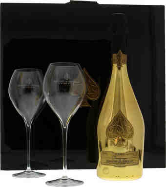 Armand De Brignac , Gold Brut Luxury Coffret With 2 Glasses , N.V.